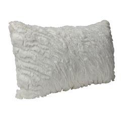PAILLETTES Coussin 30 x 50 cm blanc