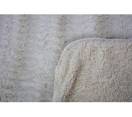 Plaid 180x230 cm SIBERIE blanc