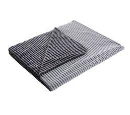 Plaid 130x160 cm Ray Blanc / Noir