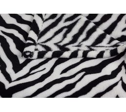 Plaid 130x160 cm SAFARI noir/blanc