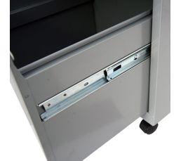 Caisson 2 tiroirs RETRO 3 Aluminium
