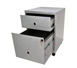 Rangements - Caisson 2 tiroirs RETRO 3 Aluminium