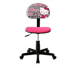 chaise dactylo hello kitty imprim chaises et fauteuils but. Black Bedroom Furniture Sets. Home Design Ideas