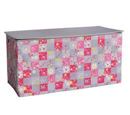 coffre jouets pliable liberty rose et gris coffres. Black Bedroom Furniture Sets. Home Design Ideas