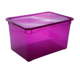 Boites De Rangement - Boîte de rangement CLEAR BOX MAXI 46 litres / Violet