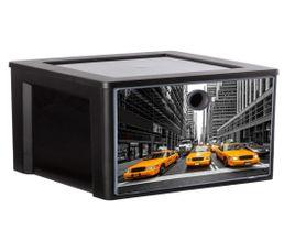 Boites De Rangement - Cube de rangement MYDECOBOX A4 CITY Livré avec décor