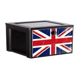 Boites De Rangement - Cube de rangement MYDECOBOX A4 FLAG Livré avec décor