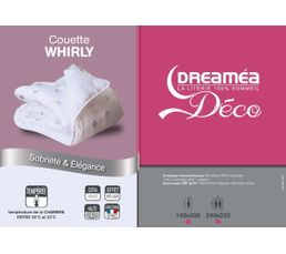Couettes Et Oreillers - Couette 140 x 200 cm DREAMEA WHIRLY