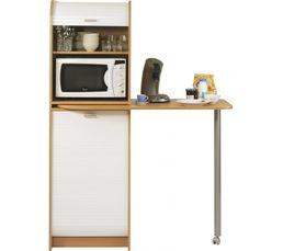 SNACK Colonne + table 000269 Hêtre/blanc