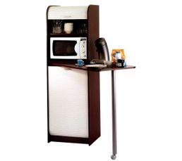Buffets Et Dessertes - Colonne + table SNACK 000269 Wenge/blanc