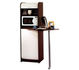 SNACK Colonne + table 000269 Wenge/blanc