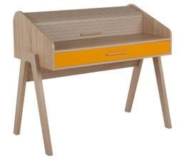 Bureaux - Bureau vintage WOODSTOCK Chêne et orange