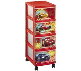 Boites De Rangement - Tour 4 tiroirs CARS NEW Rouge