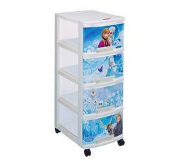 Boites De Rangement - Tour 4 tiroirs FROZEN Blanc/Bleu