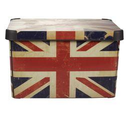 Boites De Rangement - Boîte 40x30x24 cm BRITISH FLAG Rouge/Bleu
