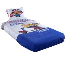 Couleur blanc linge de lit parure de lit drap housse - Housse de couette los angeles ...