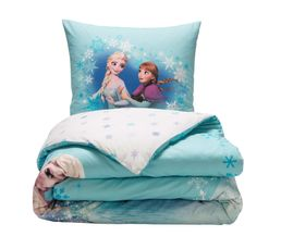 housse de couette 140x200 1 frozen sunset bleu blanc linge de lit but. Black Bedroom Furniture Sets. Home Design Ideas