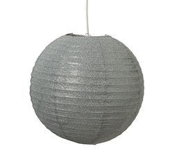 Suspension disco boule papier gris suspensions but - Boule papier luminaire ...