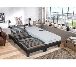 sommier relaxation lattes plots serenite 90x200 cm literies relaxation but. Black Bedroom Furniture Sets. Home Design Ideas