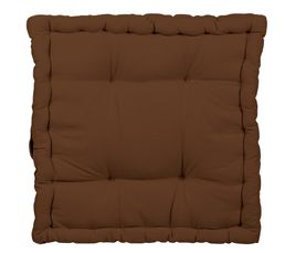 coussin de sol 40x40 cm rainbow 2 chocolat coussins but. Black Bedroom Furniture Sets. Home Design Ideas