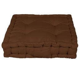 Coussin de sol 40x40 cm RAINBOW 2 chocolat