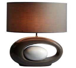 Lampes à Poser - Lampe à poser WARREN XL Gris/Blanc