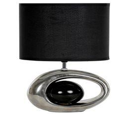 Lampes à Poser - Lampe à poser WARREN Chrome / Noir