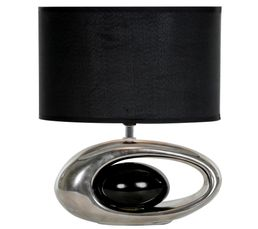 Lampe � poser WARREN Chrome / Noir