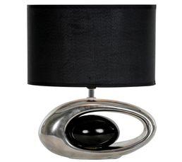 Lampe à poser WARREN Chrome / Noir
