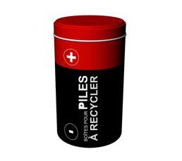 Boites De Rangement - Boîte à pile assortie Rouge/Gris