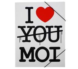 Accessoires Bureau - Pochette à rabat I LOVE YOU MOI