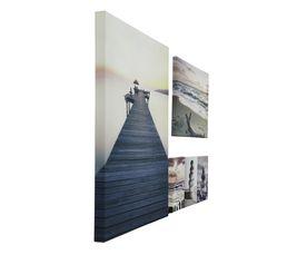 Toiles - Kit 48X60 PONTON Gris/noir
