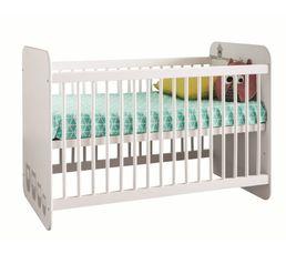 Lit bébé 60X120 cm HIBOUX Blanc