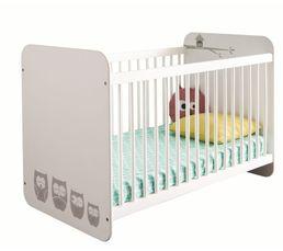 Lits - Lit bébé 60X120 cm HIBOUX Blanc