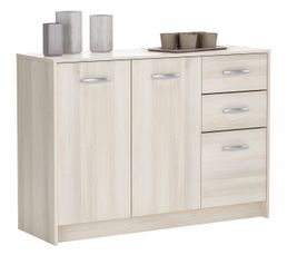 Buffets - Rangement 3 portes / 2 tiroirs BOREA imitation acacia