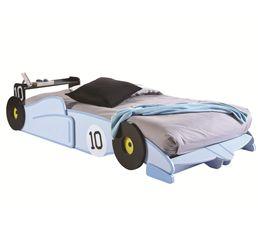 Lit enfant voiture bleu WOODY 90X190 ou 90X200 cm