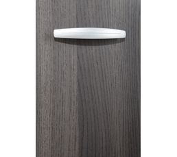 Rangement 3 portes / 2 tiroirs BOREA imitation chêne foncé