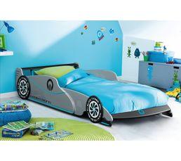 Lits - Lit voiture enfant GRAND PRIX Gris
