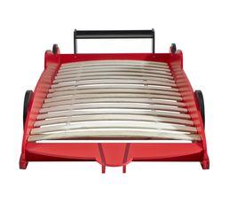 Lits - Lit enfant voiture rouge WOODY 90X190 ou 90X200 cm