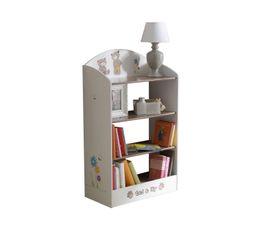 Bibliothèque enfant TEDLY Blanc et Beige