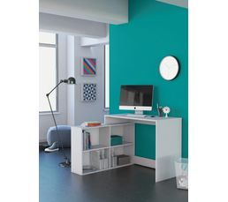 bureau d 39 angle julio blanc bureaux but. Black Bedroom Furniture Sets. Home Design Ideas