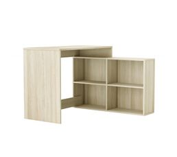 bureau led connect technologik gris et blanc. Black Bedroom Furniture Sets. Home Design Ideas