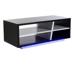 Tables Basses - Table basse LED TOKYO Noir et blanc