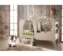 lit cabane 90 x 200 cm beige lits but. Black Bedroom Furniture Sets. Home Design Ideas