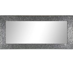miroir 43x133 paillettes argent miroirs but. Black Bedroom Furniture Sets. Home Design Ideas