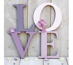 Photographies - Toile 60X60 ROMANTIQUE Violet/Blanc