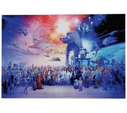 STAR WARS FIREWORK Toile 61X91,5 Multicolore