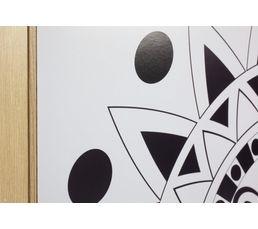 Image 40X40 à colorier MANDALA Noir/Blanc