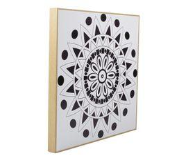 Toiles - Image 40X40 à colorier MANDALA Noir/Blanc