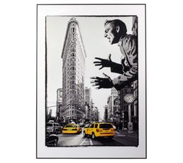 Toiles - Image 50X70 MAN IN NY Noir/Blanc/Jaune